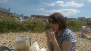 Beach, butty, beautiful wife. That'll do.