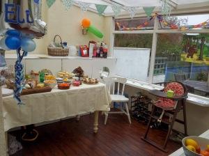 Kids party scene