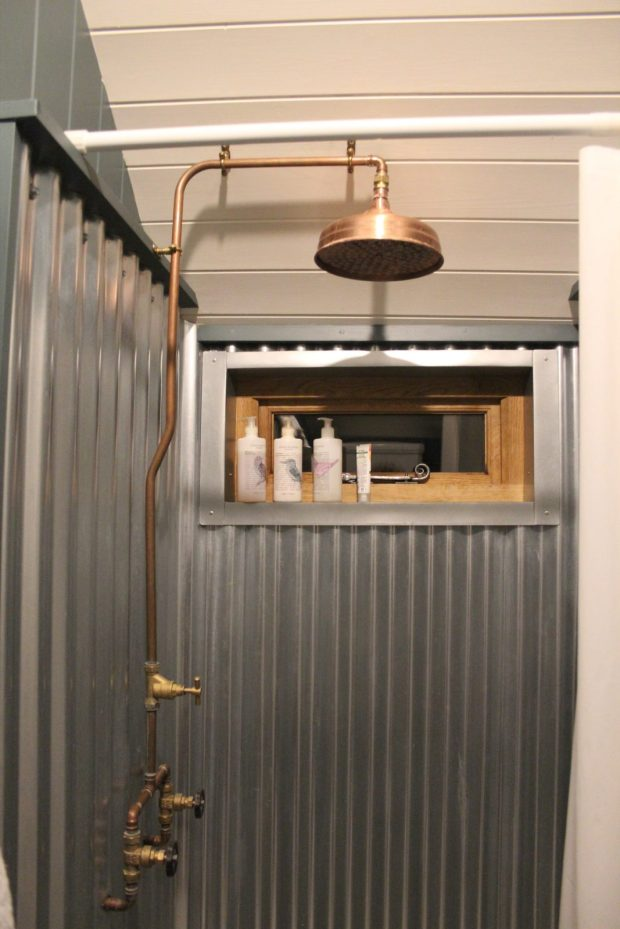 Copper shower