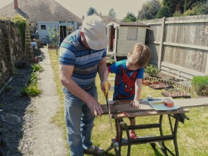 The boy and grandad