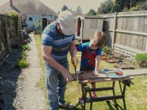 The boy and grandad