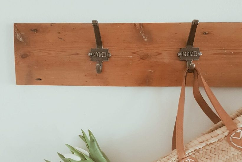 Coat hooks, with flowers