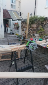 Temporary outdoor workshop