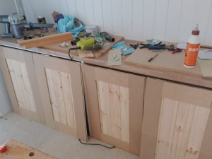 Rough homemade doors for loft bedroom cupboard