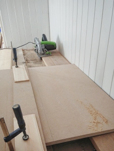 Cutting MDF set up