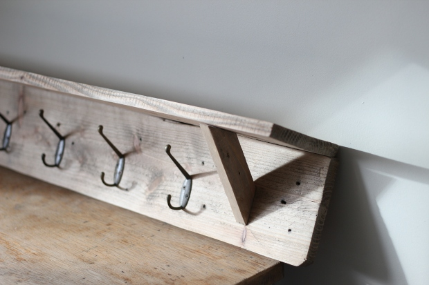 Zoe coat hook shelf